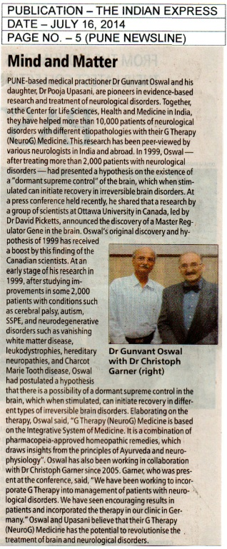 Dr. Oswal News in New Indian Express